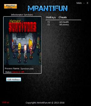 Infectonator : Survivors Trainer +2 v1.02 {MrAntiFun}