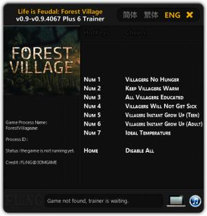 Life is Feudal: Forest Village Trainer +6 v0.9 - 0.9.4067 {FLiNG}