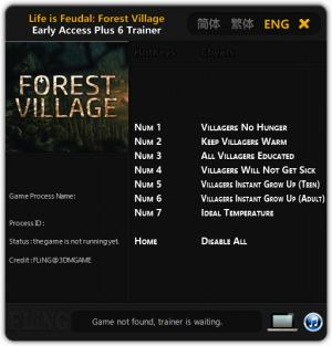 Life is Feudal: Forest Village Trainer +6 Early Access Updated 2016.08.30 {FLiNG}