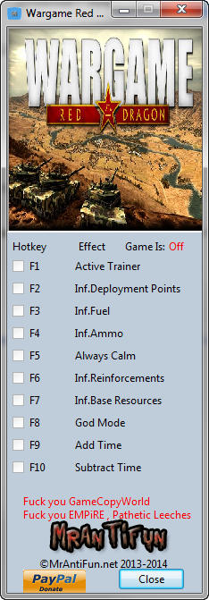 Wargame: Red Dragon Trainer  +9 v16.08.23 {MrAntiFun}