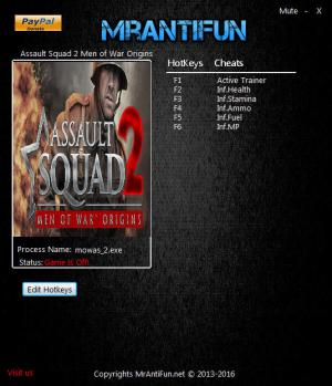 Assault Squad 2: Men of War Origins Trainer +5 v3.252.1 {MrAntiFun}
