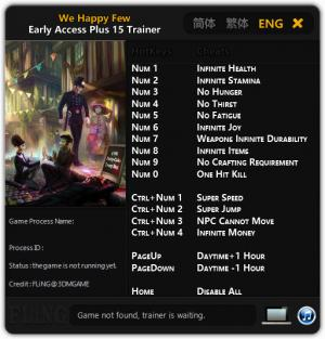 We Happy Few Trainer +15 Early Access Updated.2016.09.10 {FLiNG}