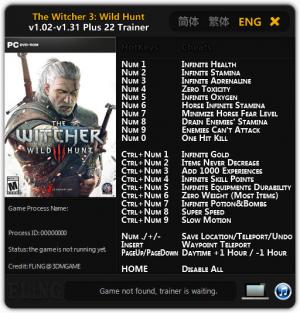 The Witcher 3: Wild Hunt Trainer +22 v1.02 - 1.31 {FLiNG}