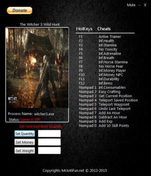 The Witcher 3: Wild Hunt Trainer +24 v1.31 {MrAntiFun}