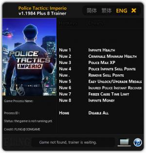 Police Tactics: Imperio Trainer +8 v1.1984 {FLiNG}
