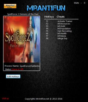 Spellforce 2: Faith in Destiny Trainer +7 v2.28.2124 {MrAntiFun}