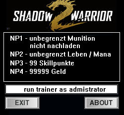 Shadow Warrior 2 Trainer +4 v1.0 {dR.oLLe}