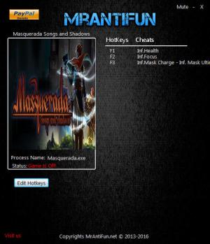 Masquerada: Songs and Shadows Trainer +4 v0.95 {MrAntiFun}
