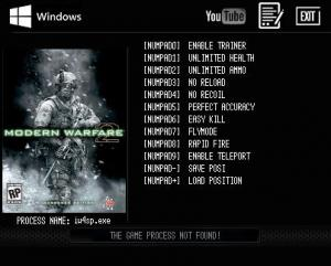 Call of Duty: Modern Warfare 2 Trainer +9 v1.0 build 159 {LIRW GHL}