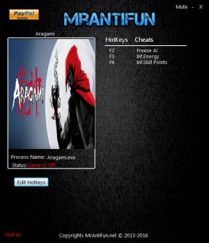 Aragami Trainer +3 v1.03 MrAntiFun - download cheats ...