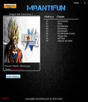 Dragon Ball Xenoverse 2 Trainer +9 v1.02 {MrAntiFun}