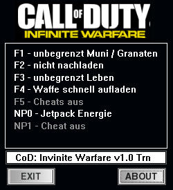Call of Duty: Infinite Warfare Trainer +5 v1.0 {dR.oLLe}