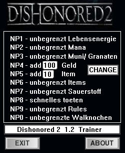 Dishonored 2 Trainer +10 v1.2 {dR.oLLe}