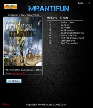 Sid Meier's Civilization 5 Trainer +8 v1.0.3.279 Brave New World DLC {MrAntiFun}