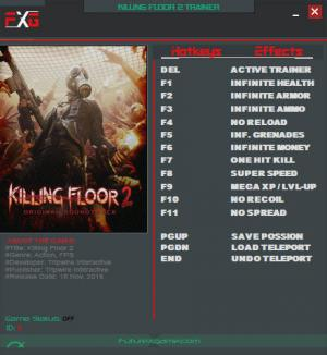 Killing Floor 2 Trainer +12 v1048 {FutureX}
