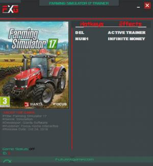 Farming Simulator 17 Trainer +1 Update 2 {FutureX}
