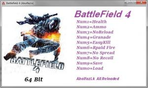 Battlefield 4 Trainer +9 v1.7 build 104788 {Abolfazl.k}