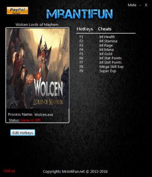 Wolcen: Lords of Mayhem Trainer +9 v0.3.3 {MrAntiFun}
