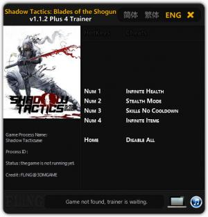 Shadow Tactics: Blades of the Shogun Trainer +4 v1.1.2 {FLiNG}