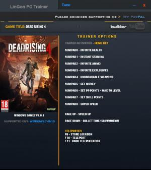 Dead Rising 4 Trainer for PC