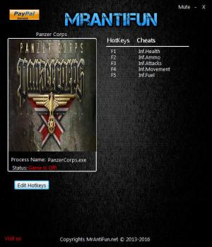 Panzer Corps Trainer for PC game version 1.26