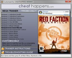 Red Faction: Guerrilla Trainer +14 Steam Edition 12.08.2016 DX10 (Cheat Happens)