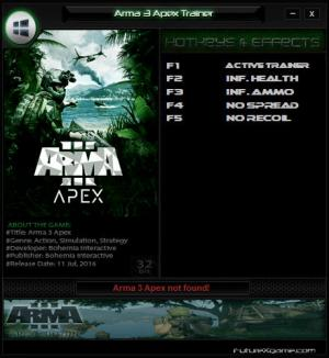 Arma 3 Apex Trainer for PC game version Update 14.11.2016