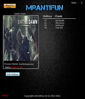 Earth's Dawn Trainer for PC game version 12.09.2016