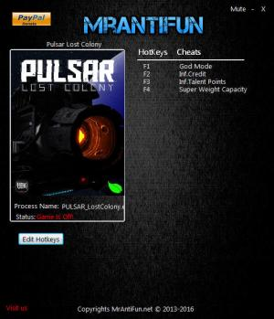 PULSAR: Lost Colony Trainer +4 v11.5 Beta {MrAntiFun}