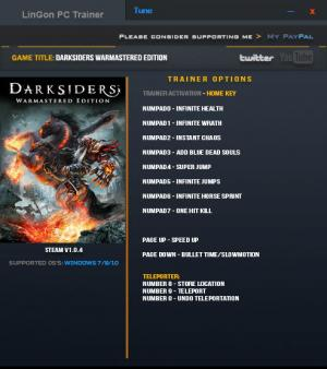 Darksiders Warmastered Edition Trainer +11 v1.0.4 {LinGon}