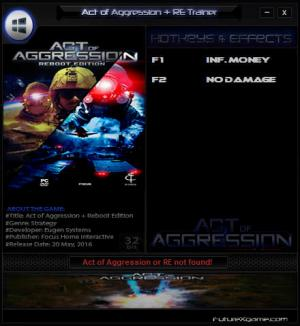 Act of Aggression - Reboot Edition Trainer +2 v2016.05.21 {FutureX}