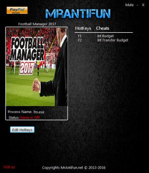 Football Manager 2017 Trainer +2 v17.2 {MrAntiFun}