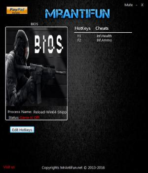 BIOS Trainer for PC game version 0.32