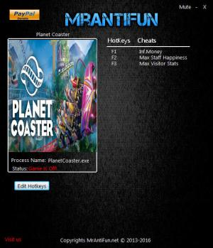 Planet Coaster Trainer +3 v1.1.1.37699 {MrAntiFun}