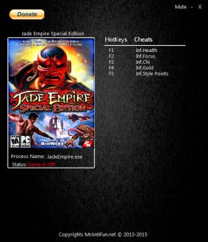 Jade Empire: Special Edition Trainer +5 Latest Origin {MrAntiFun}