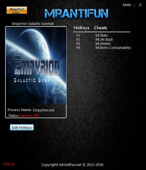 Empyrion: Galactic Survival Trainer for PC game version 5.0.0.0780