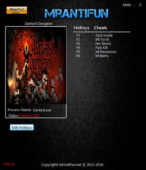 Darkest Dungeon Trainer +6 Build 16707 {MrAntiFun}