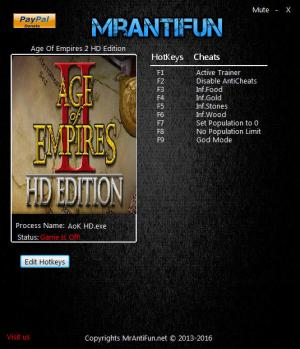 Age Of Empires 2 HD Edition Trainer +7 v5.0.1527460 {MrAntiFun}