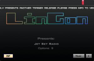 Jet Set Radio HD Trainer +9 v1.1 {LinGon}