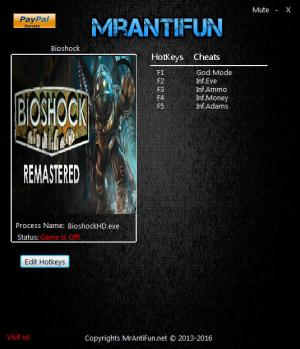 BioShock Remastered Trainer +5 v1.0.122283 {MrAntiFun}