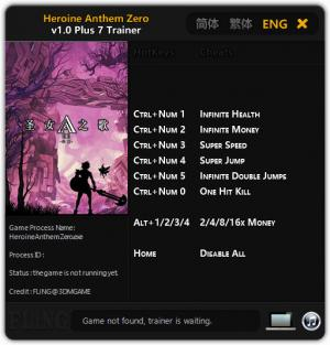 Heroine Anthem Zero Trainer +7 v1.0 {FLiNG}