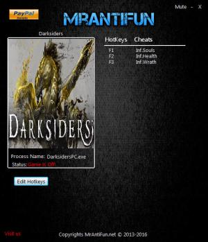 Darksiders: Wrath of War Trainer +3 v01.01.2017 {MrAntiFun}