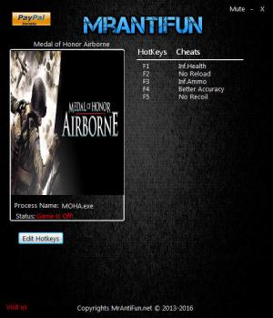 Medal of Honor: Airborne Trainer +5 v1.3 {MrAntiFun}