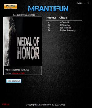 Medal of Honor 2010 Trainer +4 v01.04.2017 {MrAntiFun}
