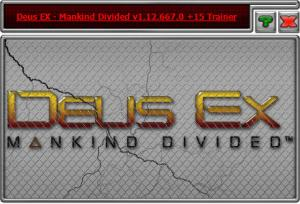 Deus Ex: Mankind Divided Trainer +15 v1.12.667.0 {HoG}