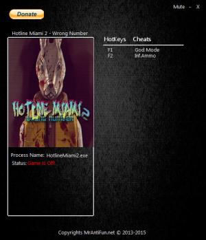 Hotline Miami 2: Wrong Number Trainer for PC game version 08.10.2016