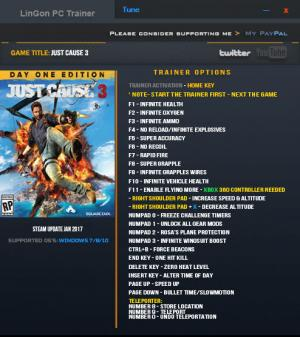 Just Cause 3 Trainer +24 Update Jan 2017 {LinGon}
