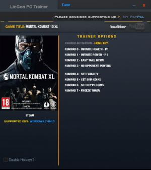 Mortal Kombat XL Trainer +8 Updated 12 Jan 2017 {LinGon}