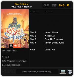 Rise & Shine Trainer +4 v1.0 {FLiNG}