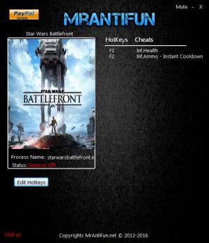 Star Wars: Battlefront 2015 Trainer +3 v1.7.64833 {MrAntiFun}